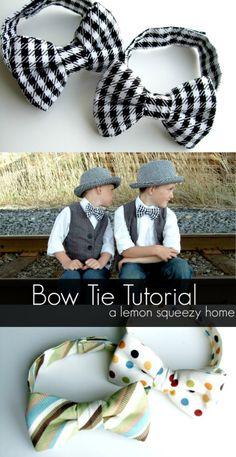 Bow Tie Tutorial {a lemon squeezy home}
