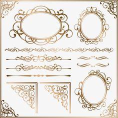 UMA moldura de Ouro, padrão europeu, O Padrão Europeu., UMA Moldura De Ouro., Textura De Material.PNG e Vector