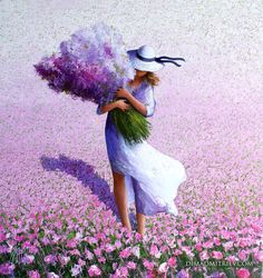 A Bouquet (Painting),  100x95x2 cm by DIMA DMITRIEV The painting characterized by strong colour and bold strokes makes with palette knife on canvas background playing with light and shadow.