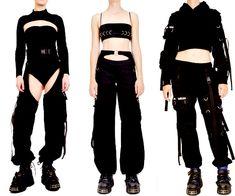 Edgy Outfits, Anime Outfits, Mode Outfits, Fashion Outfits, Cyberpunk Fashion, Drawing Clothes, Future Fashion, Character Outfits, Kawaii Fashion