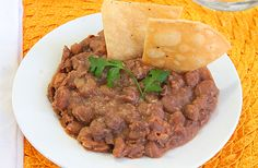 Mexican restaurant style beans