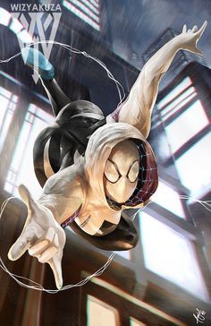 Spider-Gwen Marvel 11 x 17 Digital Print by Wizyakuza on Etsy See more at http://www.spikesgirls.com