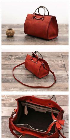 Handmade Full Grain Leather Designer Handbag with Metal Top Handle Source by unihandmade Bags designer Chloe Handbags, Best Handbags, Fashion Handbags, Fashion Bags, Ladies Handbags, Coach Handbags, Designer Leather Handbags, Bags Online Shopping, Hobo Purses