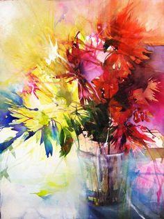 Risultati immagini per elke memmler watercolor Colorful Art, Flower Painting, Art Painting, Floral Art, Painting, Beautiful Paintings, Watercolor Flowers, Abstract Watercolor, Beautiful Art