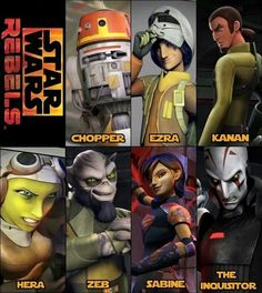 Sabine is awesome if you didn't know that!!! But Ezra has the most charming eyes ever!!!!!!