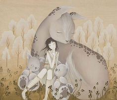 Amy Sol her work is cute Amy Sol, Dream Illustration, Graphic Projects, Photo D Art, Various Artists, Fantasy Art, Creatures, Ideas, Anime