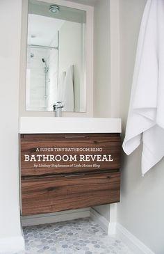 Small Bathroom Renovation via LindsayStephenson.com