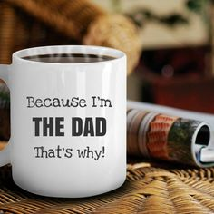 Funny coffee mug for Dad for Father's Day. #fathersday