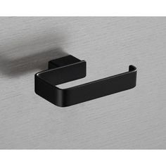 Toilet Paper Holder Square Matte Black Toilet Roll Holder 5424-M4 Gedy 5424-M4