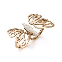 Mattioli Two finger butterfly ring