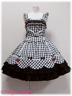 Berry-chan JSK by Angelic Pretty African Dresses For Kids, Kids Outfits Girls, Little Girl Dresses, Girl Outfits, Girls Frock Design, Baby Dress Design, Kids Frocks, Frocks For Girls, Toddler Fashion