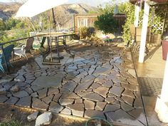 Broken concrete you can use as a walkway in front of your house or behind your house or also as a driveway. In addition, broken concrete can also be used as your garden wall to create a mound of soil for plants and gardens in your yard.