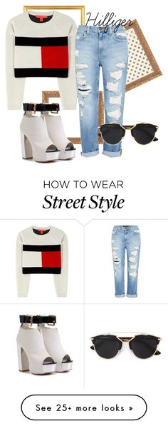 """Hilfiger Street Style"" by disyg on Polyvore featuring Kate Spade, Tommy Hilfiger, Genetic Denim and Christian Dior"