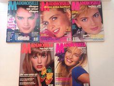 Vintage Lot Mademoiselle Magazines 1984 1985 1987 Fashion Models