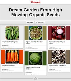I truly wish that I had thought to do this sooner.  It was so great to have a place where I could make a High Mowing Organic Seeds wish list AND get an idea of what my garden will look like beforehand. I can not wait to see the pins on my board come into fruition in my garden! Thank you HMOS for the inspiration and for offering so many great varieties of high quality, organic seeds!