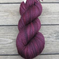 I could do so much damage with this yarn!! Plum - Yowza | Miss Babs Hand-Dyed Yarns & Fibers, Inc.