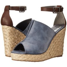 Gabriella Rocha Miranda Women's Wedge Shoes, Navy (35 CAD) ❤ liked on Polyvore featuring shoes, sandals, navy, wedge espadrilles, platform wedge sandals, navy blue sandals, platform shoes and wedge sandals