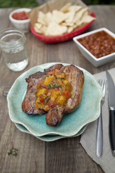 Smoked Pork Chops with Jalapeno Apricot Chutney via @Shaina Olmanson | Food for My Family