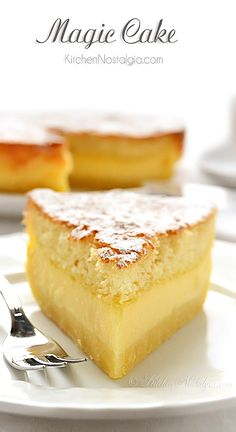 Vanilla Magic Custard Cake - 1 batter during baking magically separates into 3 layers: dense on the bottom, custard in the middle, sponge on top