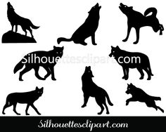 A perfect silhouette for wildlife illustrations and vector graphics. Download and get this Wolf Silhouette Vector Graphics ideal for animal vector graphics.