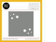 Free SVG and DXF cutting file from amandarobinsonstudio.com