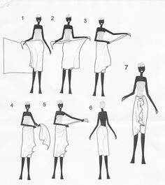 How to wear sarong as skirt
