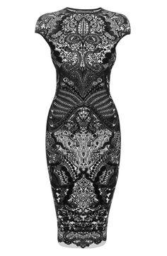 Black Victorian Puckering Lace dress