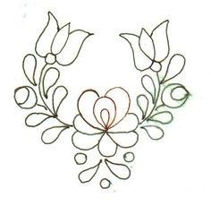 Chain Stitch Embroidery, Bead Embroidery Patterns, Beading Patterns, Embroidery Stitches, Embroidery Designs, Mexican Embroidery, Hungarian Embroidery, Folk Embroidery, Ribbon Embroidery