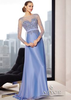 Alyce 29717 Two Tone Chiffon Gown