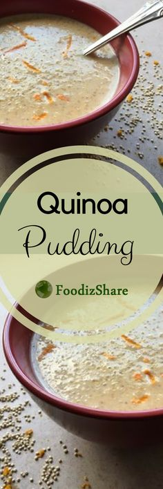 A delicious, traditional quinoa pudding from Peru. Peruvians use quinoa like rice for making puddings and custards.