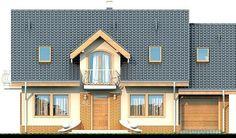 DOM.PL™ - Projekt domu DN Karmelita mała CE - DOM PC1-01 - gotowy koszt budowy Home Fashion, Malaga, House Plans, Garage Doors, Shed, Farmhouse, Outdoor Structures, Cabin, House Styles