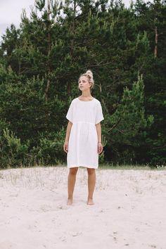 1a6bfea551 Summer linen dress  V neck linen dress   Summer dress   Linen dress ...