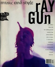 """- Ray Gun Magazine cover """"R."""" by David Carson / Issue 2 / December 1992 Graphic Design Branding, Graphic Design Posters, Typography Design, Graphic Designers, Graphic Art, David Carson Design, Deconstructivism, Grunge, Layout Inspiration"""