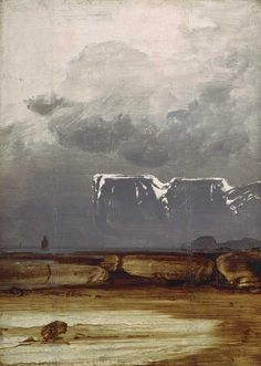 The expressive landscape paintings of Norwegian artist Peder Balke are on show at the National Gallery, London, until 12 April 2015 Arctic Landscape, Mountain Landscape, Fantasy Paintings, Landscape Paintings, Landscapes, May Arts, Scandinavian Art, Canadian Art, Traditional Art