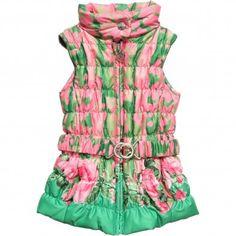 Girls Floral Sleeveless Jacket $260+