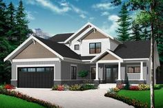 House Plan 034-00993 - Craftsman Plan: 2,614 Square Feet, 4 Bedrooms, 3.5 Bathrooms