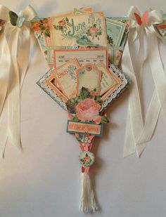 annes papercreations: How to make the Time to Flourish banner mini album calendar and measurements