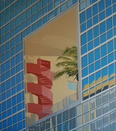 Atlantis by Building Miami / Arquitectonica. Oil on canvas . 170 x 147 cms, year 2002