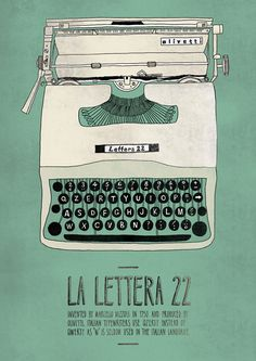 Olivetti Lettera 22 poster by Emily Isles