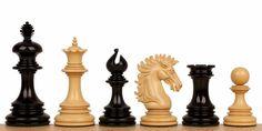 "Wellington Staunton Chess Set in Ebony & Boxwood- 4.25"" King - The Chess Store"