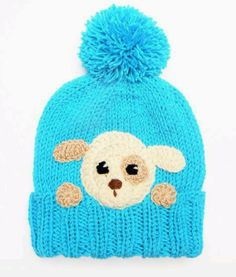Puppy Applique Crochet Dog Applique Designe Hat Applique by Crochet Baby Clothes Boy, Baby Girl Crochet Blanket, Crochet Kids Hats, Baby Hats Knitting, Knitted Baby Blankets, Knitted Hats, Hat Crochet, Baby Girl Hats, Girl With Hat