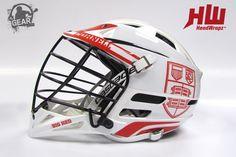 Cornell Big Red HeadWrapz on a Cascade CPX-R @Cascade Lacrosse | ILGear.com