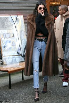Kendall Jenner amps up the glamour for day out in Paris #dailymail