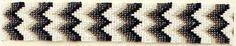 (MFW3058862) Southwestern Black & White Beaded Chevron Headband