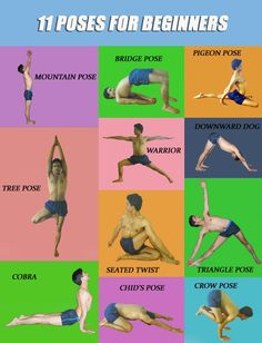 11 yoga poses for beginners.                              … #YoYoYoga-PosesandRoutines