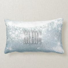 Light Sapphire Twinkle Lash Metallic Studio Pillow Dorm Pillows, Throw Pillows, Dorm Gifts, Amethyst, Sapphire, Beauty Lash, Glam And Glitter, Shop Lighting, Christmas Card Holders
