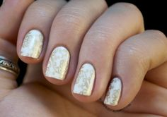 French White Creme (Wet n' Wild) and stamped with Passion (China Glaze) #nails
