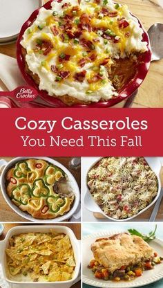 As much as we love summer, we also love turning on our ovens again in the fall. Especially when it's to bake up one of these cozy casseroles.