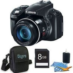 Canon PowerShot SX50 HS 12.1 MP Digital Camera with 50x Wide-Angle Optical Image Stabilized Zoom Deluxe Bundle With 8 GB Secure Digital High Capacity (SDHC) Memory Card, Digpro Compact Camera Deluxe Carrying Case by Canon. $429.00. Imagine getting right down on the field to capture sports action, zeroing in on your child's expression on a crowded stage, and recording elusive wildlife shots. All this and more is possible with the PowerShot SX50 HS offering the world's first 5...