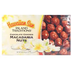 Hawaiian Sun Chocolate Covered Macadamia Nuts - 2 oz, 3 oz or 5 oz